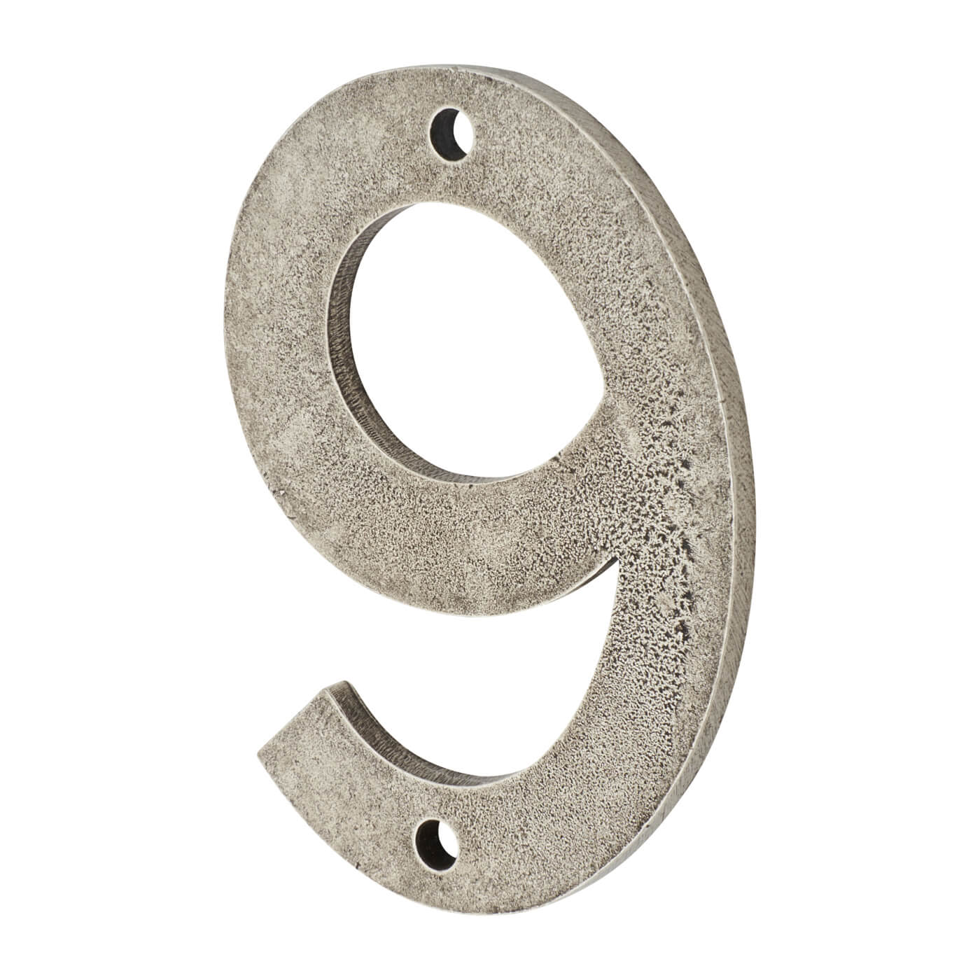 Finesse Numeral Number - 9 - Pewter)