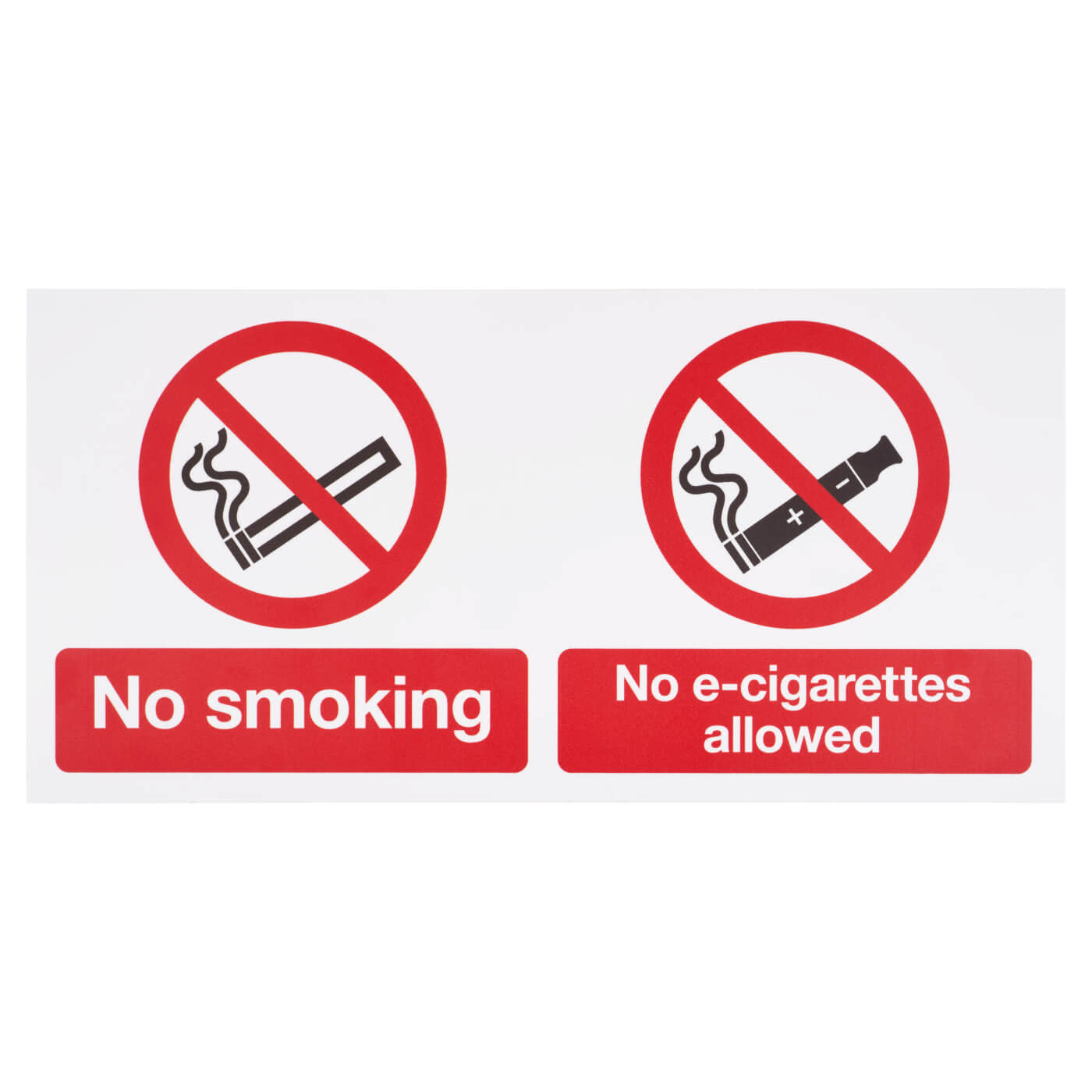 No smoking, No E-Cigarettes Allowed - 300 x 500mm)