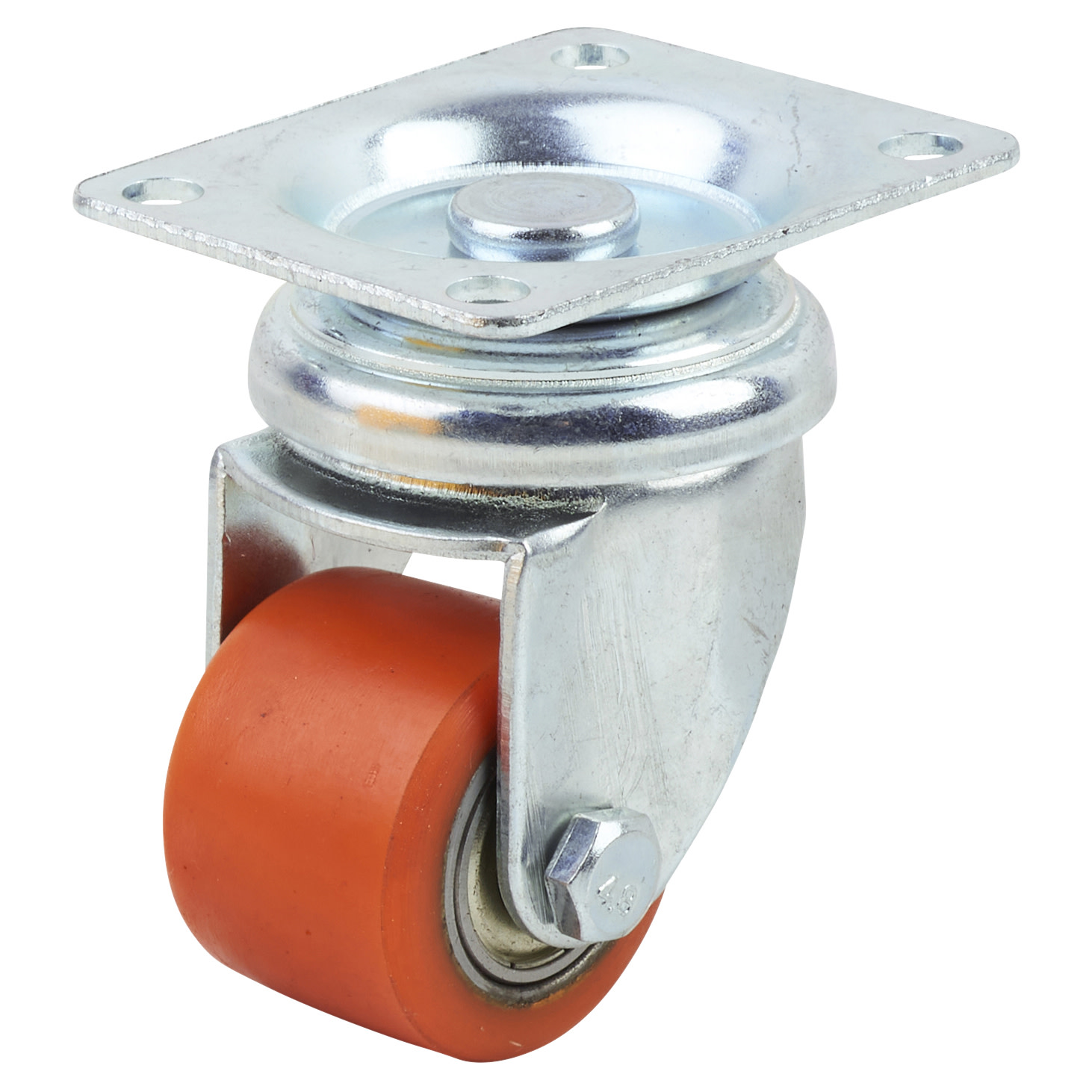 Coldene Super Low Level and High Load Castor - Swivel - 120kg Maximum Weight - Red)