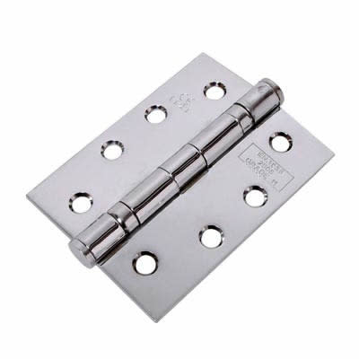 Jedo Twin Ball Bearing Steel Hinge - 102 x 76 x 2.7mm - Polished Chrome - Pair)