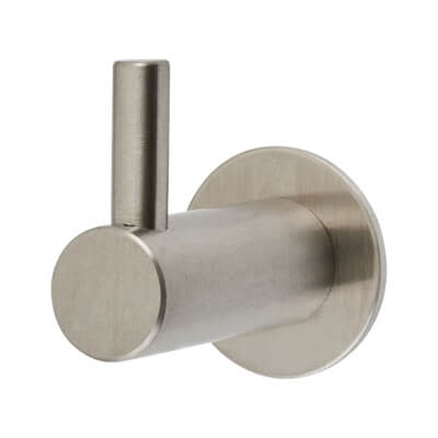 Altro Single Coat Hook - 35mm - Satin Stainless Steel)