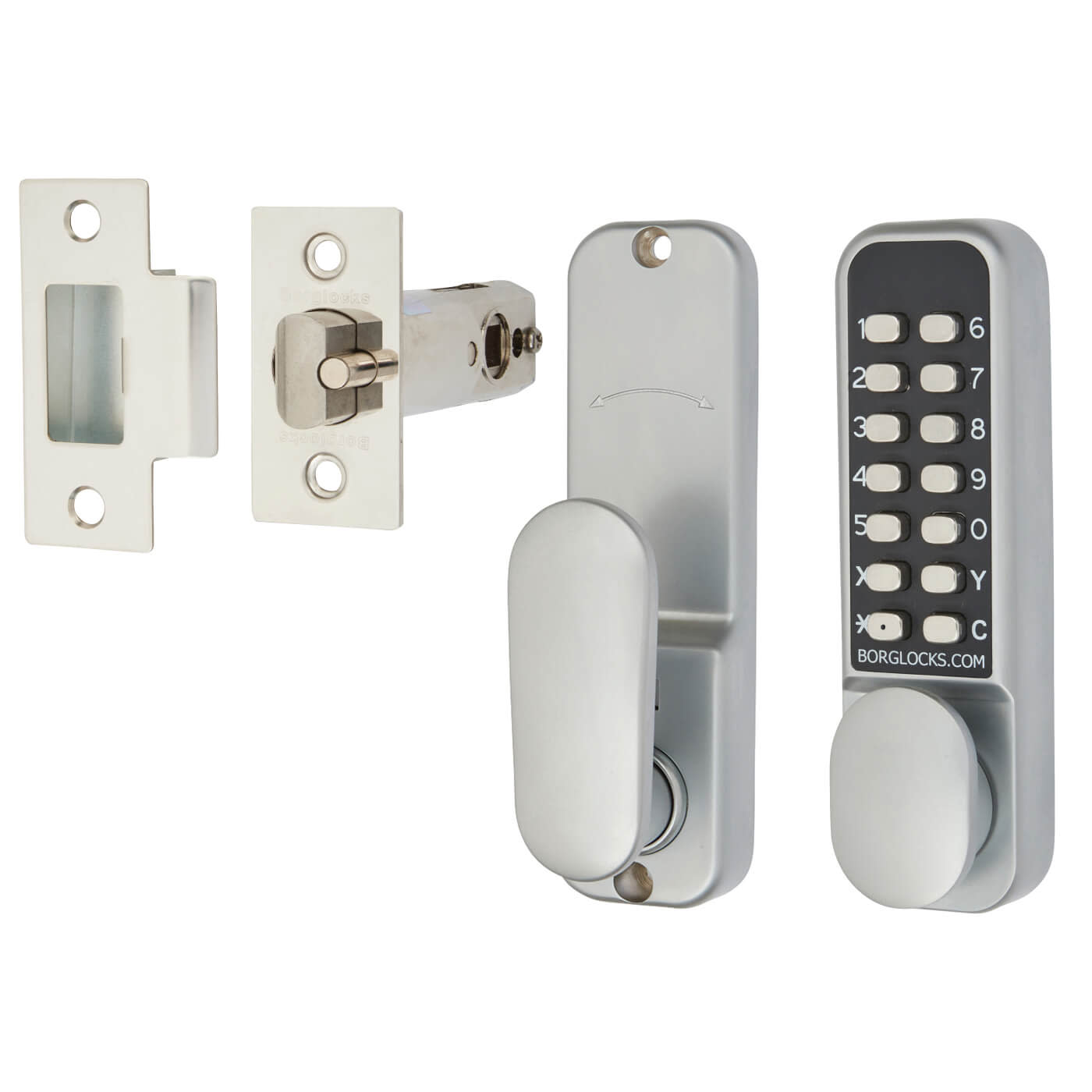 Borg BL2201 Easicode Pro Code Operated Lock with Thumbturn - Grey)