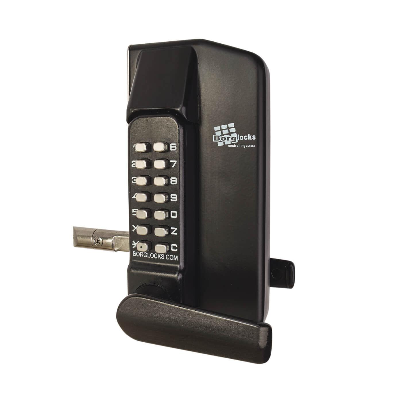 Borg BL3400 External Marine Grade Gate Lock - Black)