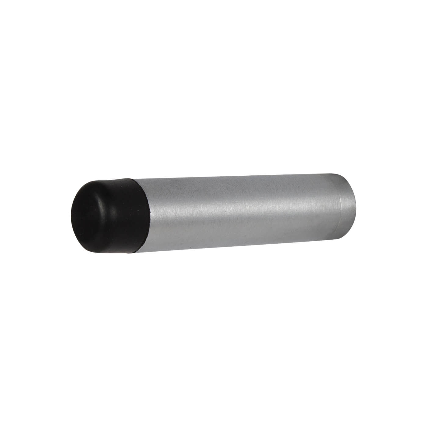 Cylinder Pattern Projection Door Stop - 70mm - Satin Chrome)