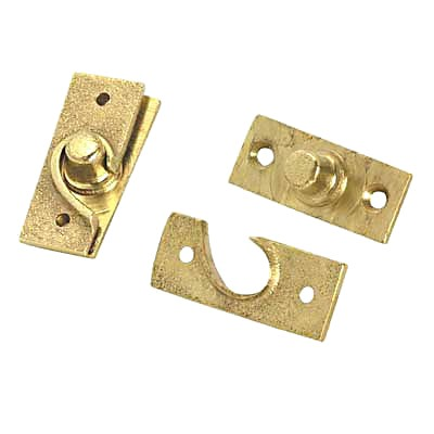 Concealed Pivot Hinge - 50 x 19mm - Self Colour Brass)