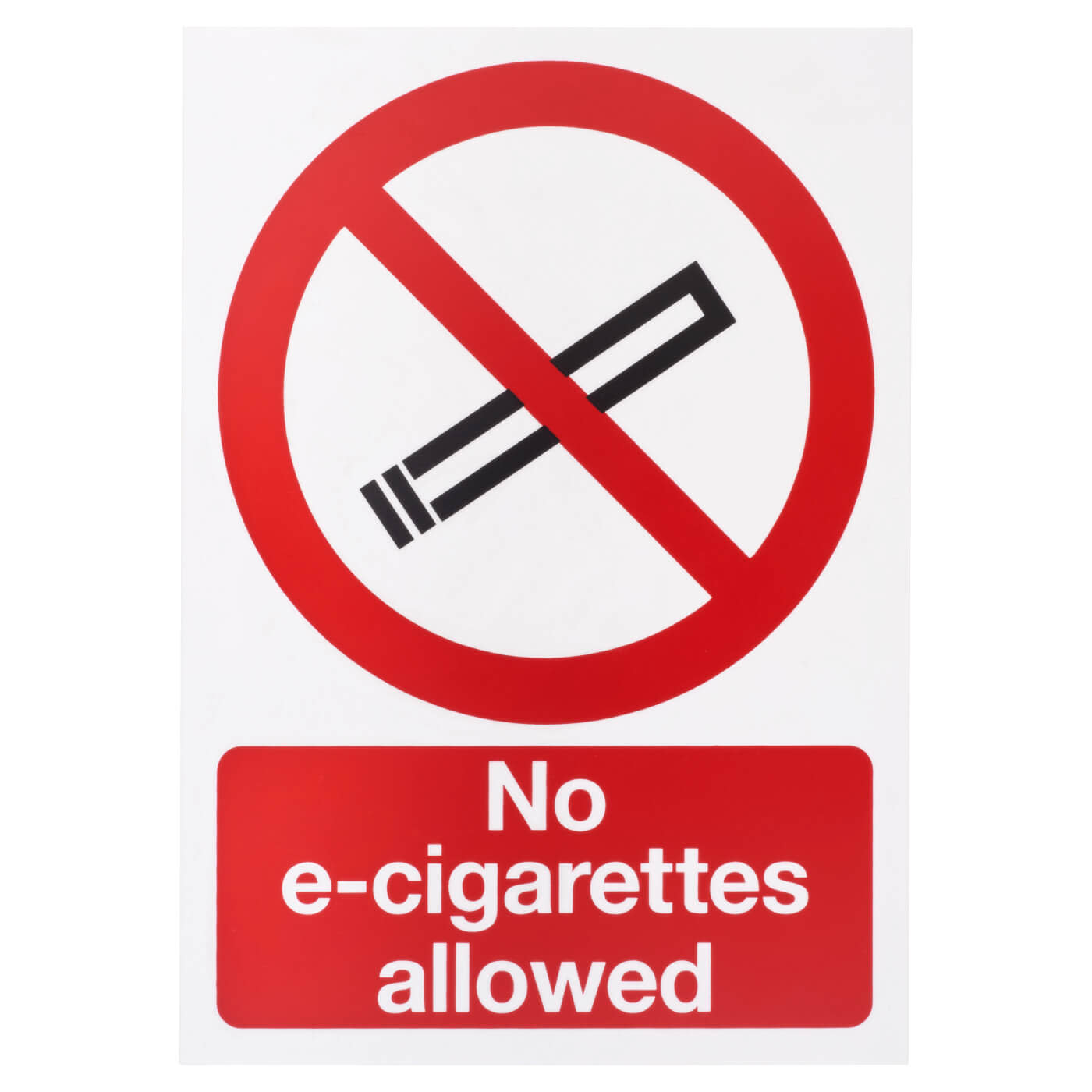 No E-Cigarettes Allowed - 297 x 210mm)