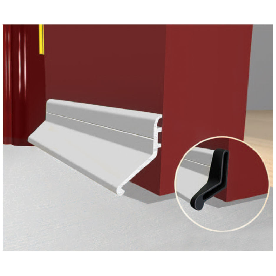 Exitex Slimline Rain Deflector and Drip Weather Bar - 914mm - Mill Aluminium)
