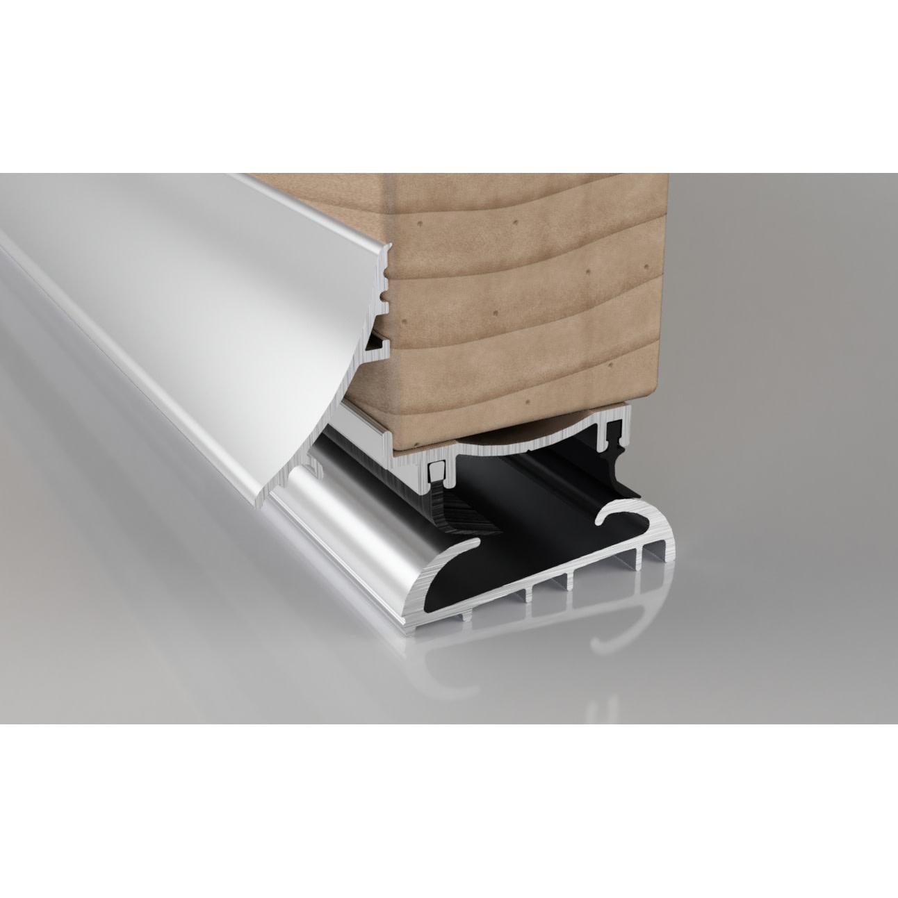 Stormguard Trimline 3-Part Threshold - 914mm - Silver)