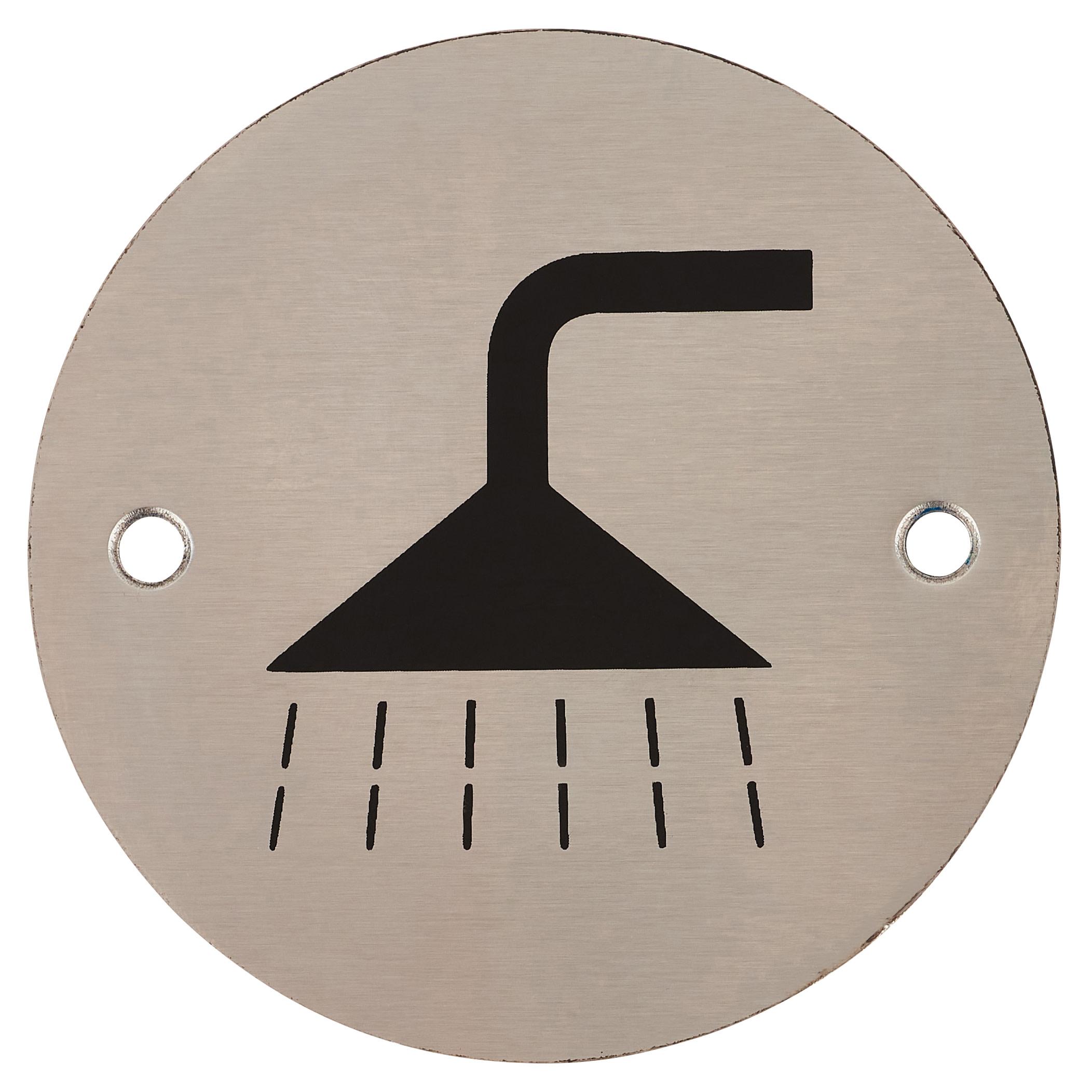 Shower - 75mm - Satin Stainless Steel)