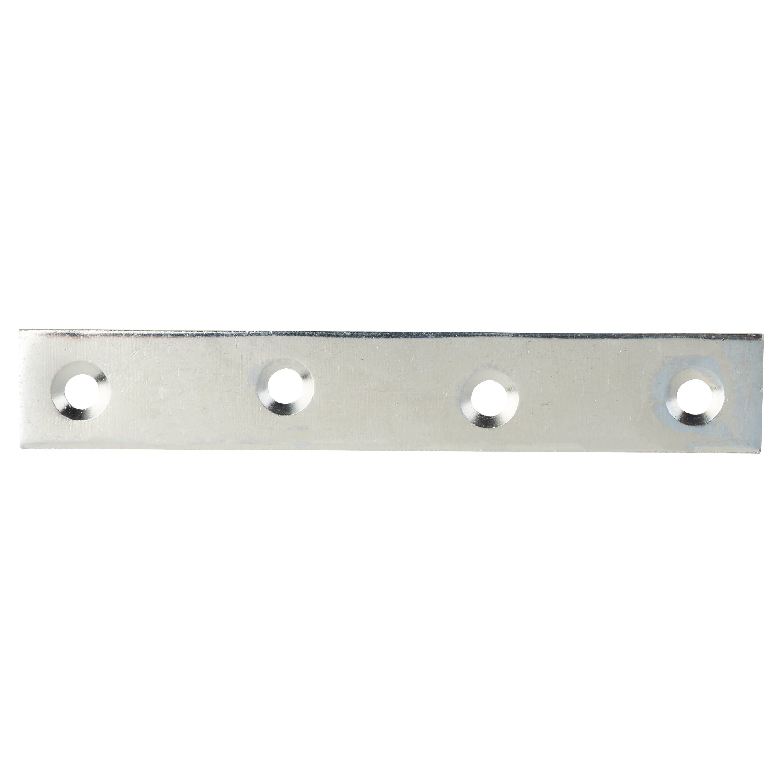 Flat Mending Plate - 100mm - Bright Zinc Plated - Pack 10)