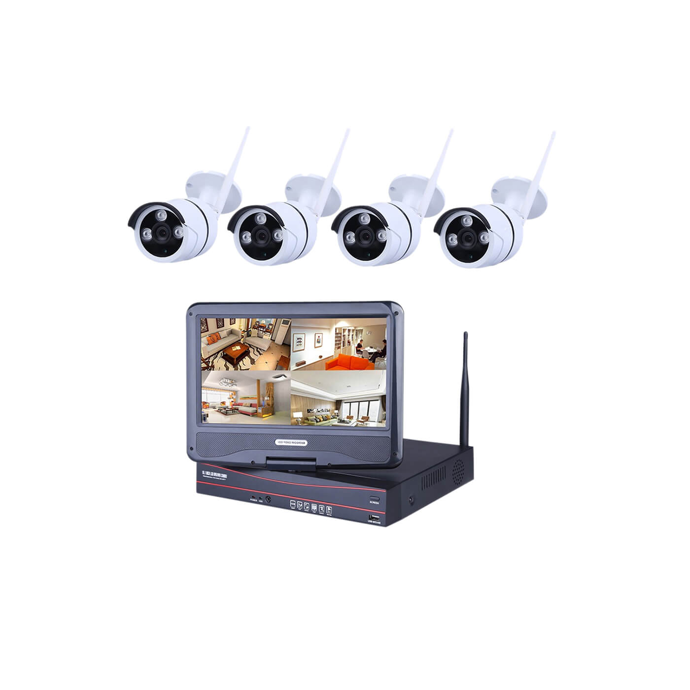 Ener-J Outdoor Wireless Wi-fi IP Camera System - 4 Cameras
