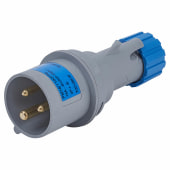 Lewden 16A 2 Pin and Earth Plug - Blue)