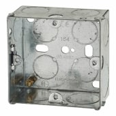 1 Gang Back Box with Knockout - 35mm - Galvanised)