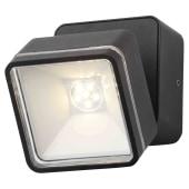 Stanley Square Adjustable LED Wall Light - Black)