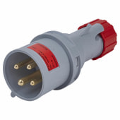 Lewden 32A 3 Pin and Earth Plug - Red)