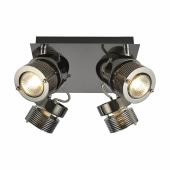 Pedro Square Spotlight - 4 Light - Black Chrome )