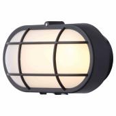 Stanley Oval Plastic LED Bulkhead - Black )