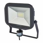 Luceco Slimline 38W 5000K LED PIR Floodlight - Black/Silver)