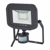 Luceco 15W 5000K LED PIR Slimline Floodlight - Black)