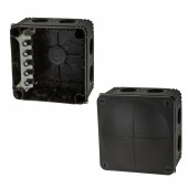 Wiska IP66 66mm Connection Box - Black)