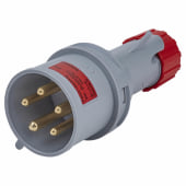Lewden 32A 4 Pin and Earth Plug - Red)