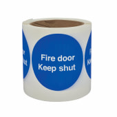 Fire Door Keep Shut - Self-Adhesive Vinyl Label - 80 x 80mm)