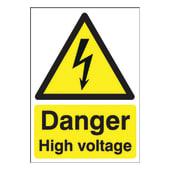 Danger High Voltage - 420 x 297mm - Rigid Plastic)