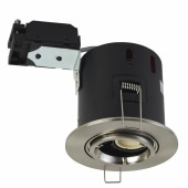 Luceco Adjustable Fire Rated Downlight - IP20 - Satin Chrome)