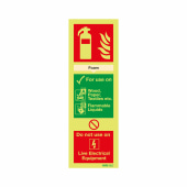 NITE GLO Fire Extinguisher Sign - Foam - 300 x 100mm - Rigid Plastic)