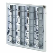 4 x 18W CAT2 Louver High Frequency Modular - 600 x 600mm - White)