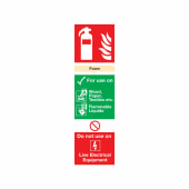 Fire Extinguisher Sign - Foam - 300 x 100mm - Rigid Plastic)