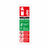 Fire Extinguisher Sign - CO2 - 300 x 100mm - Rigid Plastic)