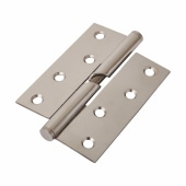 Stainless Steel Falling Butt Hinge - 100 x 75 x 2mm - Right Hand - Polished Stainless - Pair )