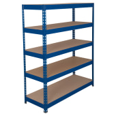 6 Shelf Heavy Duty Shelving - 250kg - 2000 x 1200 x 600mm)