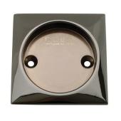 KLÜG Square Screw Fixed Flush Handle - 63 x 63mm - Polished Black Nickel)