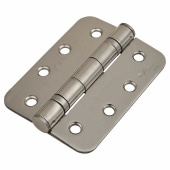 Enduro Radius Twin Ball Bearing Hinge - 102 x 76 x 3mm - Satin Stainless Steel - Pair)