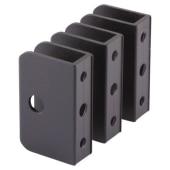 Premier Panel Bracket - Black Textured - 12-13mm Panels - Pack 3)