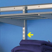 elfa® Hanging Wall Bars - 1211mm - Silver)