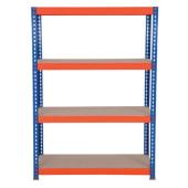4 Shelf Budget Shelving - 265kg - 1800 x 900 x 300mm)