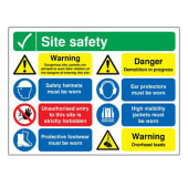Site Safety Notice/Dangerous Site - 600 x 800mm)