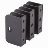 Premier Wall Bracket - Black Textured - 12-13mm Panels - Pack 3)