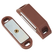 Budget Heavy Duty Magnetic Catch - Brown - Pack 5)