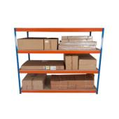 4 Shelf Commercial Shelving - 400kg - 1980 x 1830 x 610mm)
