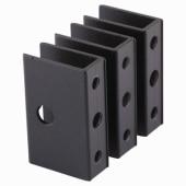 Pro Panel Bracket - Black Textured - 12-13mm Panels - Pack 3)