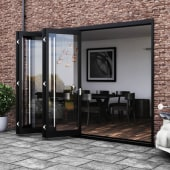 Barrierfold Outward Opening Patio Door Kit - 3 Door - Satin Stainless Steel)