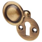 Jedo Covered Escutcheon - Keyhole - Antique Brass)