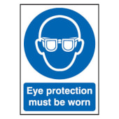 Eye Protection Must Be Worn - 420 x 297mm - Rigid Plastic)