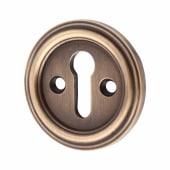 Keyhole Escutcheon - Antique Brass)