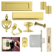 Front Door Furniture Kit - Stainless PVD Brass)