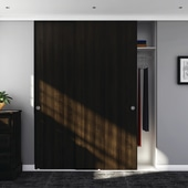Klug Double Wardrobe Top Sliding Door Kit - 3000mm Track - 30kg)